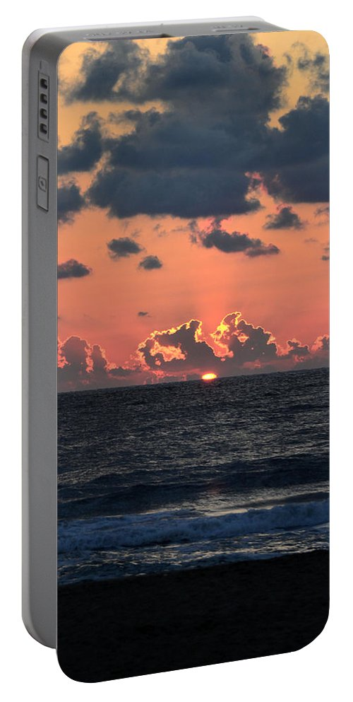 Sunrise Portable Battery Charger featuring the photograph Rays by Tom Leach