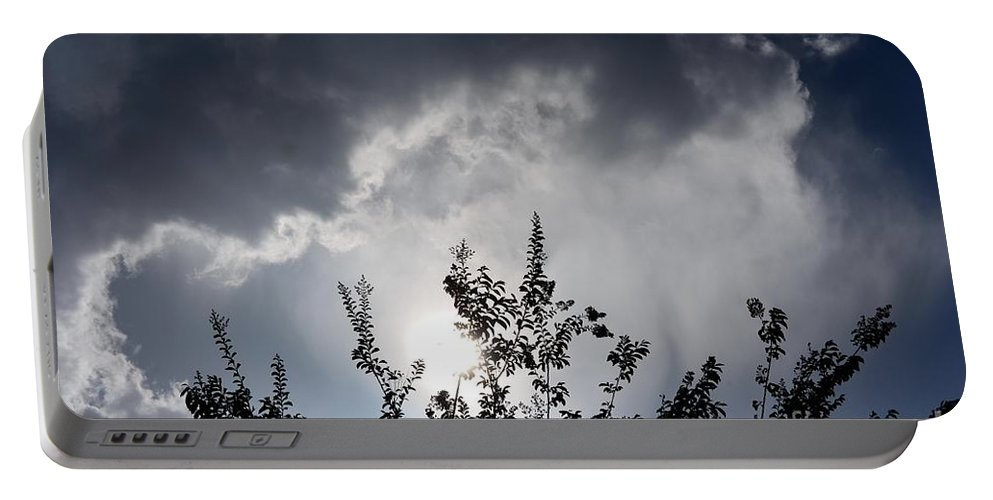Reaching Portable Battery Charger featuring the photograph Reaching For The Clouds by Maria Urso