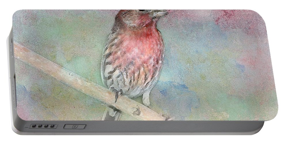 House Finch Portable Battery Charger featuring the photograph Ready To Sing My Song by Betty LaRue