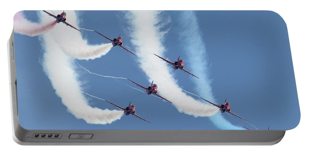 Aircraft Portable Battery Charger featuring the photograph Red Arrows - Formation Magic by Pat Speirs