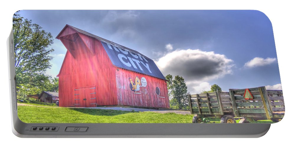 Barn Portable Battery Charger featuring the photograph Red Barn by David Troxel