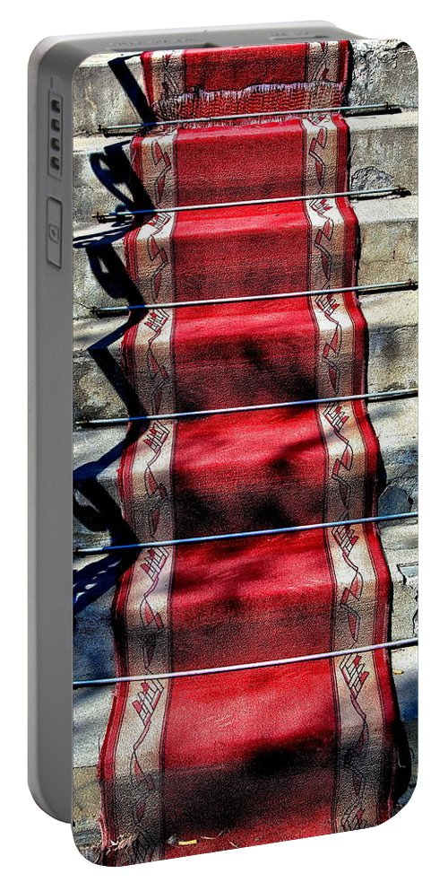 Red Carpet Portable Battery Charger featuring the photograph Red Carpet Treat by Burney Lieberman