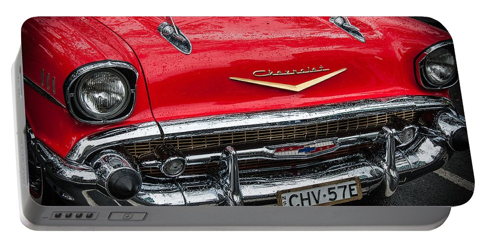 Cooloongatta Portable Battery Charger featuring the photograph Red Chevvy by John White