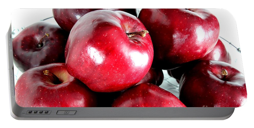 Red Portable Battery Charger featuring the photograph Red Delicious Apples by Barbara Griffin