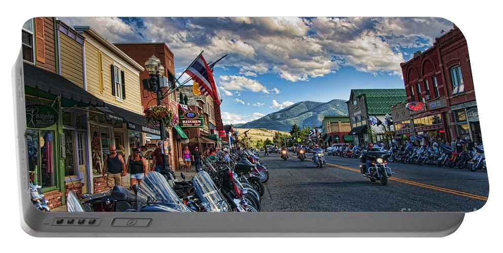 Motorcycles Portable Battery Charger featuring the photograph Red Lodge Motorcycle Rally by Gary Beeler