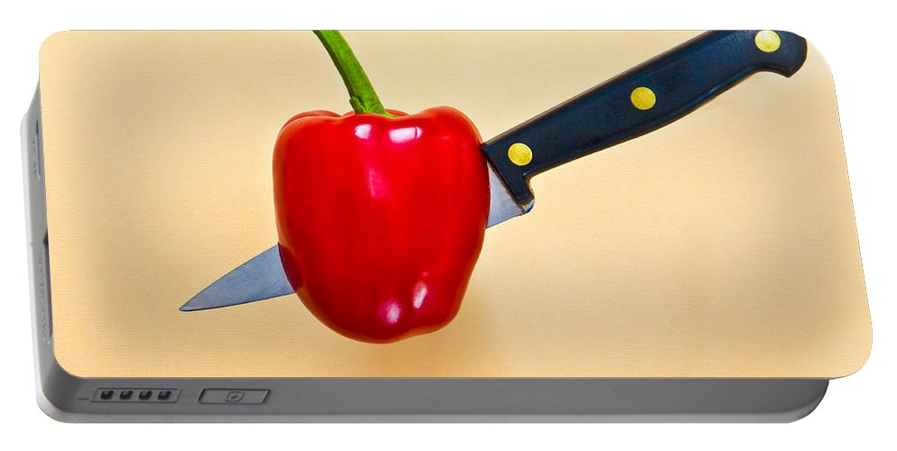 red Pepper Portable Battery Charger featuring the photograph Red Pepper by Tom Gowanlock