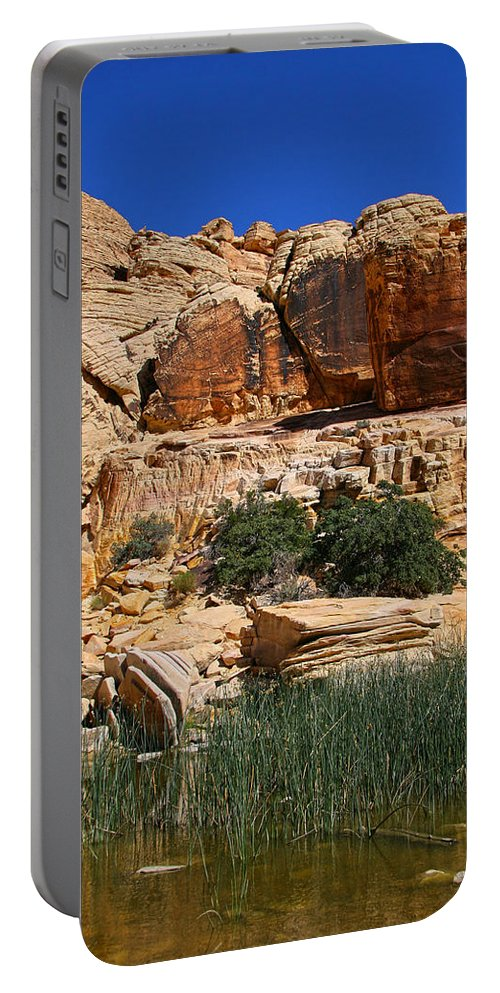 Red Rock Canyon Portable Battery Charger featuring the photograph Red Rock Canyon The Tank by Chris Brannen