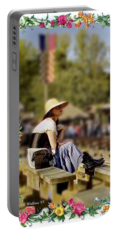 2d Portable Battery Charger featuring the photograph Redheaded Beauty by Brian Wallace