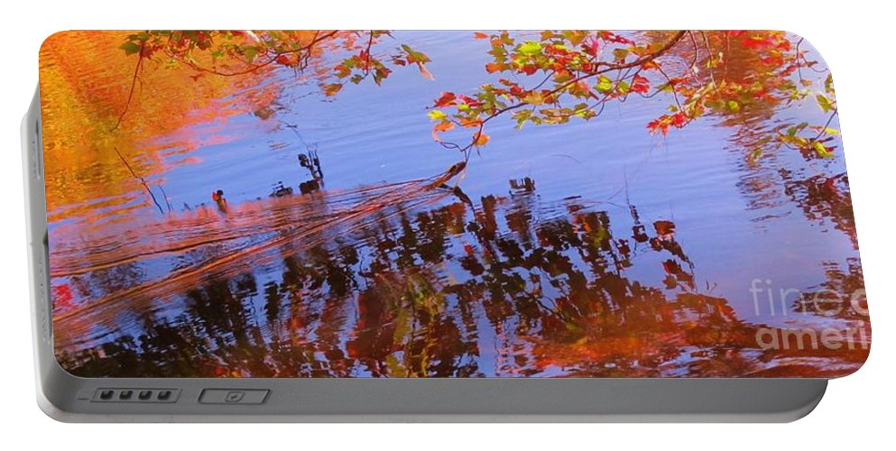 Reflections In Water Portable Battery Charger featuring the photograph Reflections And Currents by John Malone