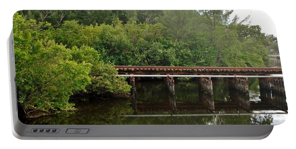 Green Portable Battery Charger featuring the photograph Reflections On The North Fork River by Rob Hans