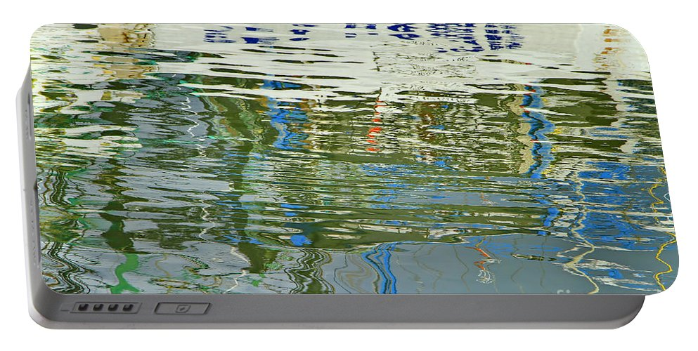 Reflections Portable Battery Charger featuring the photograph Reflective Water Abstract by Deborah Benoit