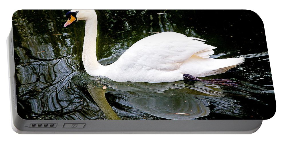 White Swan Portable Battery Charger featuring the photograph Regality by Burney Lieberman