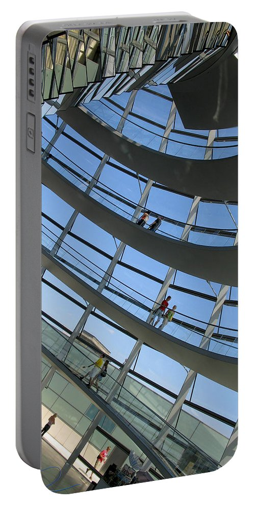 Travel Portable Battery Charger featuring the photograph Reichstag Dome by S Paul Sahm