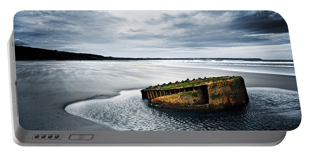 Bay Portable Battery Charger featuring the photograph Reighton Sands Coast by Svetlana Sewell