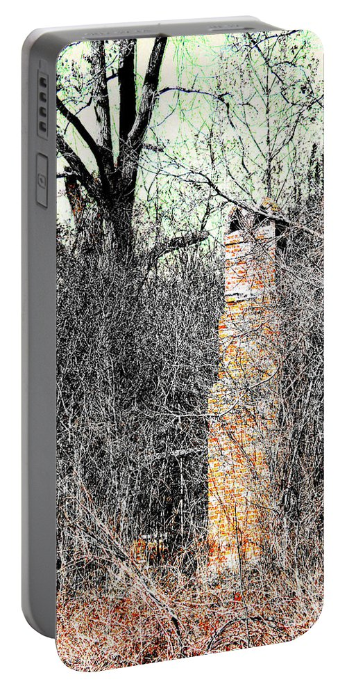 Ruins Portable Battery Charger featuring the digital art Remains by Lizi Beard-Ward