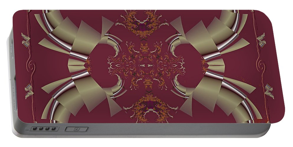 Fractal Portable Battery Charger featuring the photograph Ribbons To Claws by Mother Nature