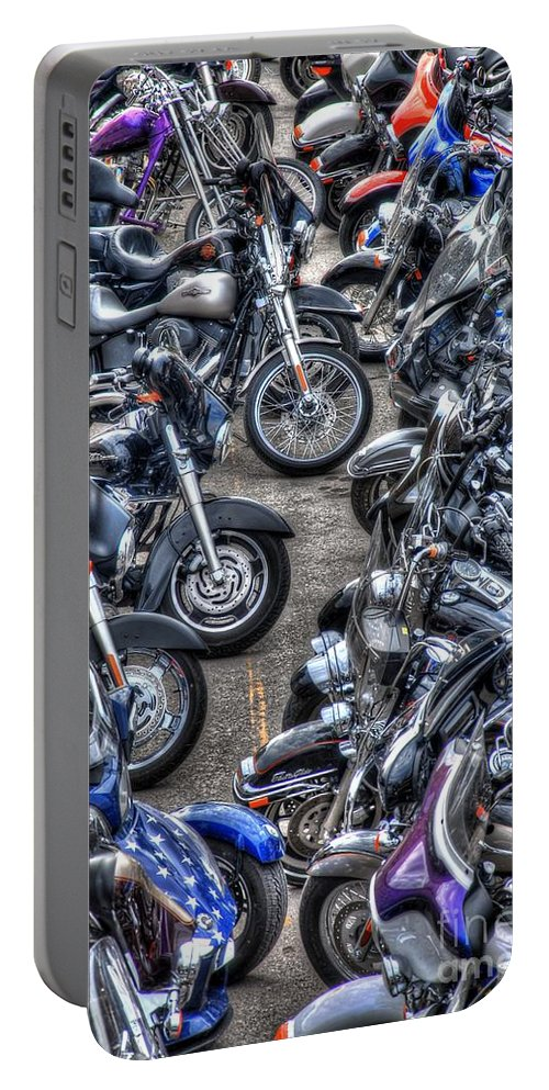 Harley Davidson Portable Battery Charger featuring the photograph Ride And Shine by Anthony Wilkening
