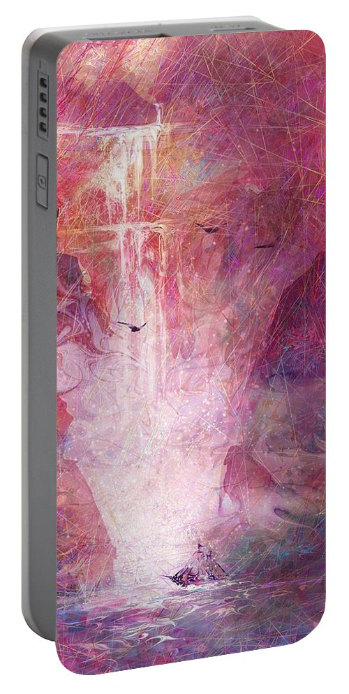River Of Life Portable Battery Charger featuring the digital art River Of Life by Rachel Christine Nowicki