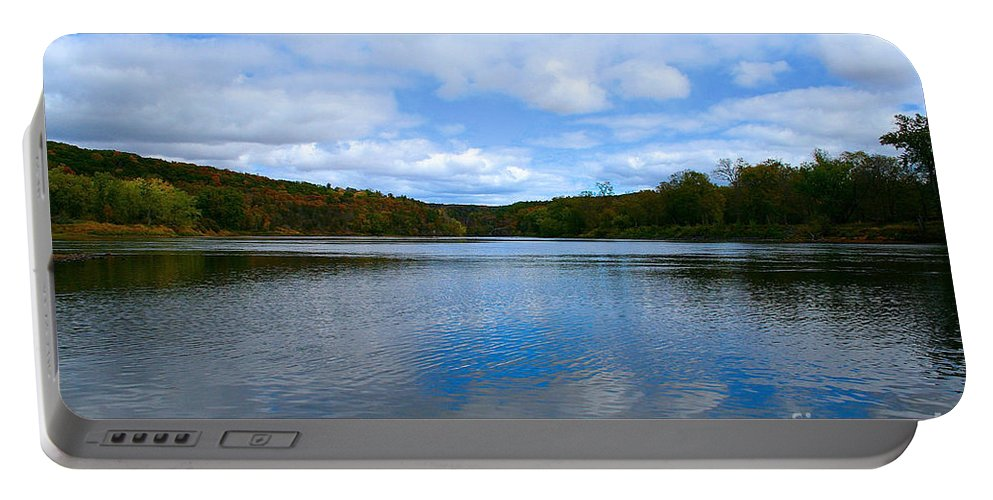 Landscape Portable Battery Charger featuring the photograph River Reflections by Susan Herber