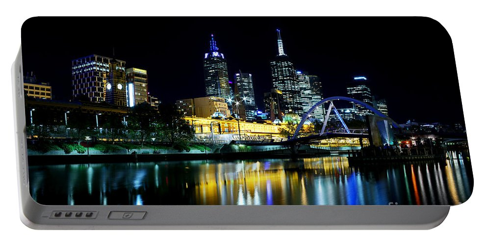 Melbourne Portable Battery Charger featuring the photograph Riverside by Andrew Paranavitana