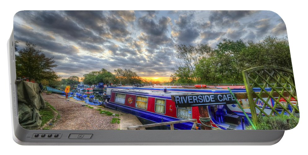 Hdr Portable Battery Charger featuring the photograph Riverside Cafe by Yhun Suarez
