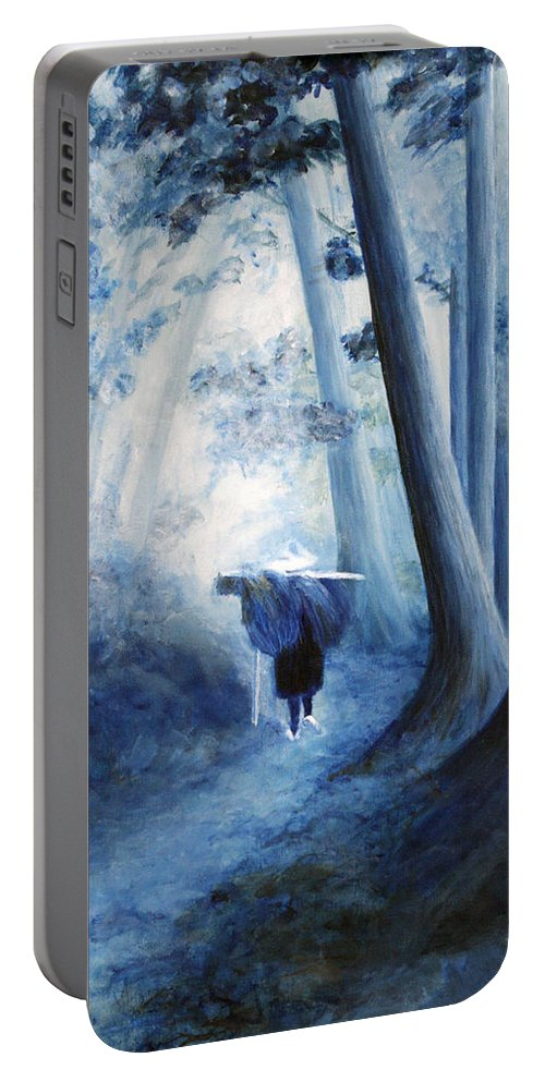 Trees Portable Battery Charger featuring the painting Road Home by Donna Walsh