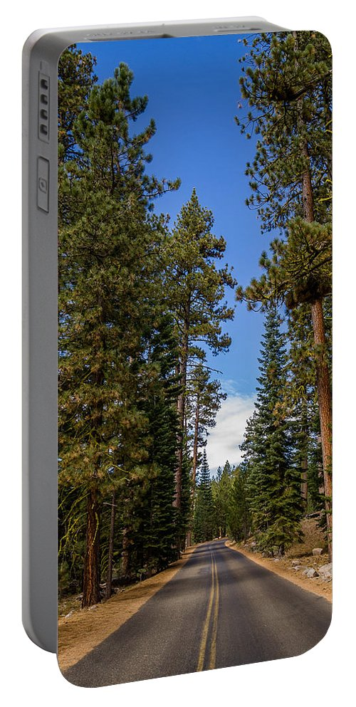 Lassen Volcanic National Park Portable Battery Charger featuring the photograph Road Through Lassen Forest by Greg Nyquist
