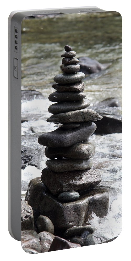 Lake Superior Portable Battery Charger featuring the photograph Rock Art by Ted Kinsman