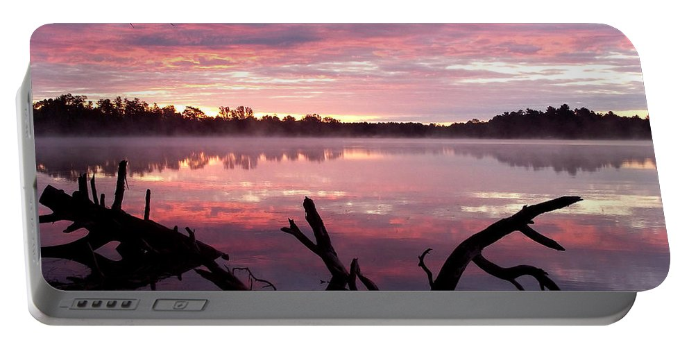 Lake Portable Battery Charger featuring the photograph Rock Lake by Brenda Hagenson
