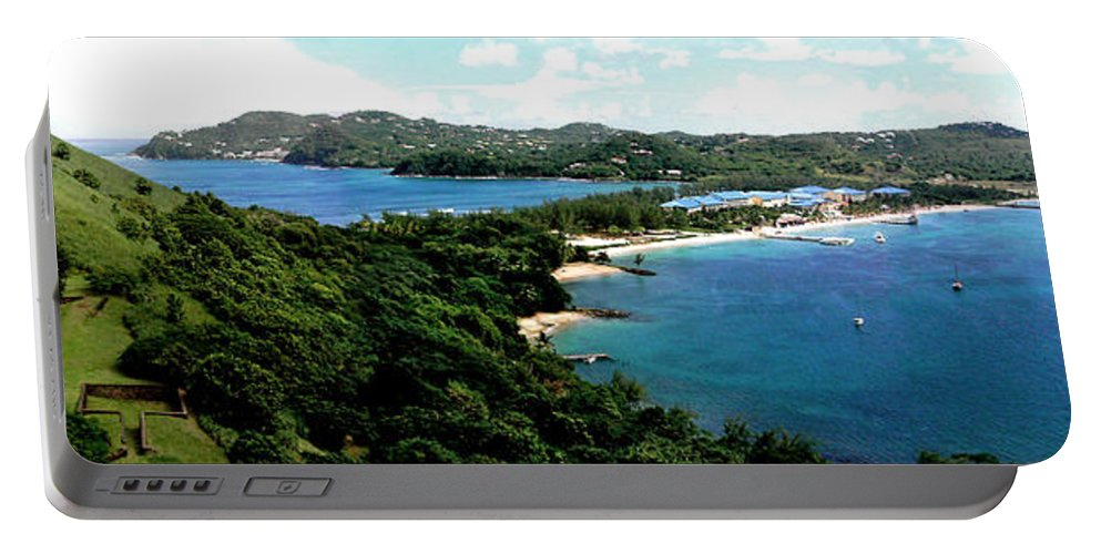 Rodney Bay Portable Battery Charger featuring the photograph Rodney Bay St. Lucia by Duane McCullough