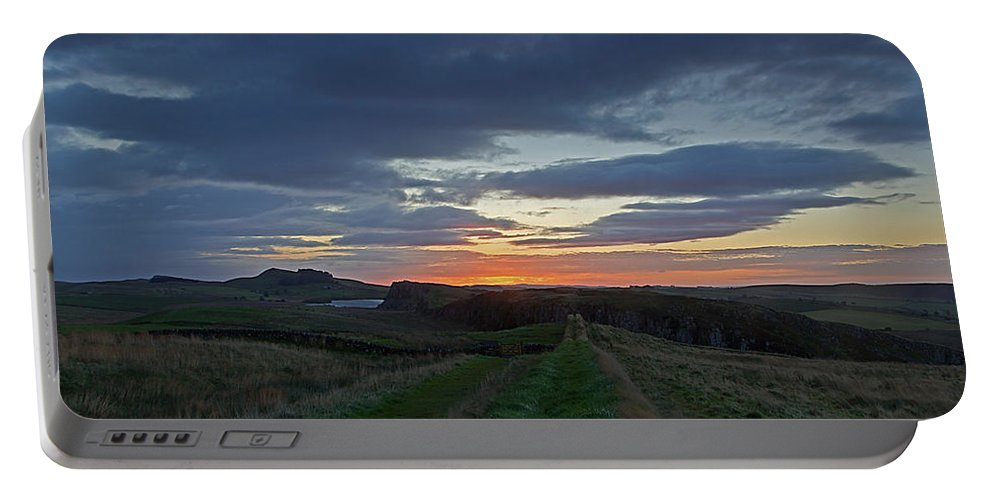 Roman Wall Portable Battery Charger featuring the photograph Roman Wall Sunrise II by David Pringle