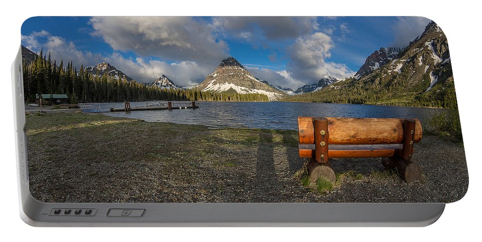 Two Medicine Lake Portable Battery Charger featuring the photograph Room To View by Greg Nyquist