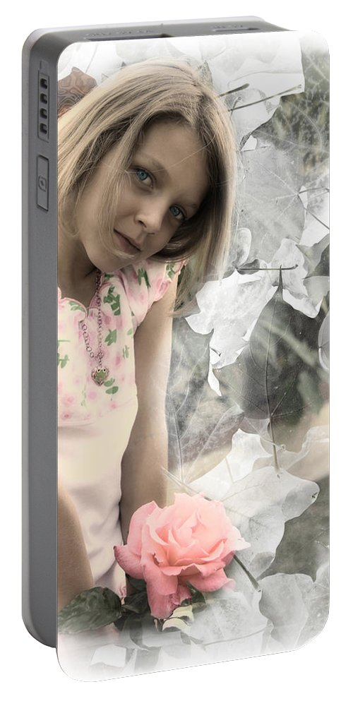 Faery Portable Battery Charger featuring the photograph Rose Faery by Diana Haronis