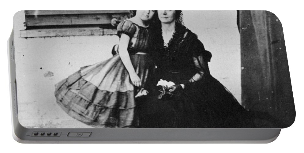 1864 Portable Battery Charger featuring the photograph Rose Oneal Greenhow by Granger