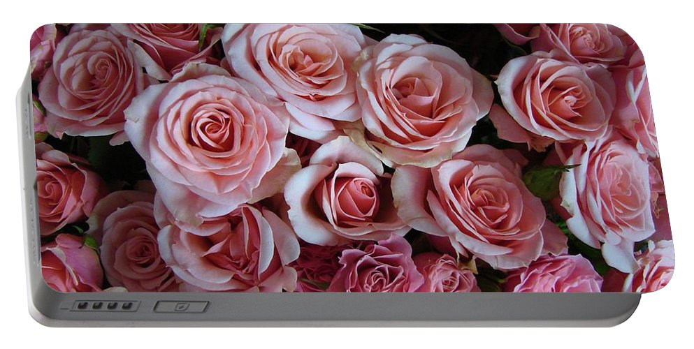 Floral Portable Battery Charger featuring the photograph Roses Galore by Margaret Bobb