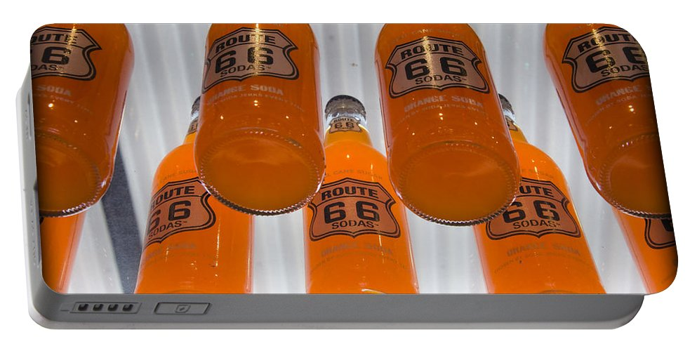 Soda Portable Battery Charger featuring the photograph Route 66 Soda by Ricky Barnard