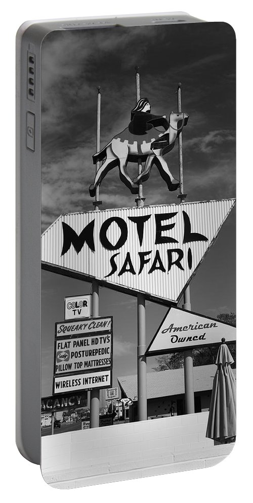 66 Portable Battery Charger featuring the photograph Route 66 - Tucumcari New Mexico by Frank Romeo