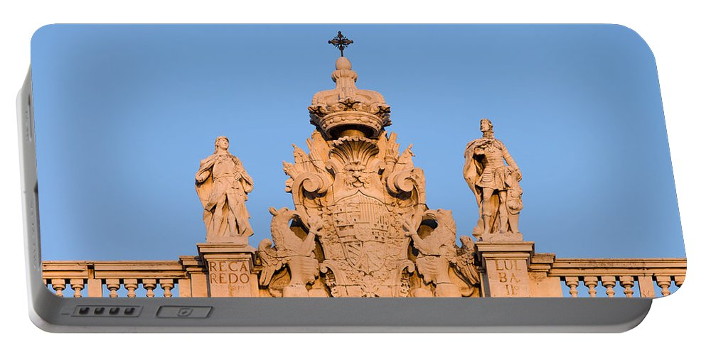 Architecture Portable Battery Charger featuring the photograph Royal Palace In Madrid Architectural Details by Artur Bogacki