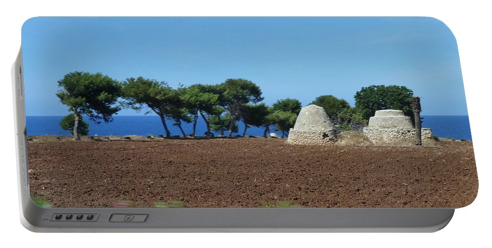 Alberobello Portable Battery Charger featuring the photograph Rural Trulli by Carla Parris