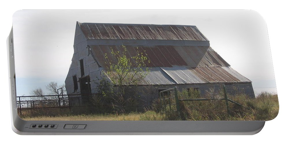 Portable Battery Charger featuring the photograph Rusted Barn by Amy Hosp