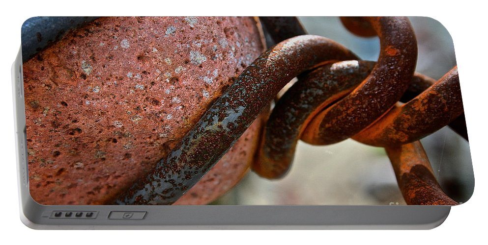 Outdoors Portable Battery Charger featuring the photograph Rusty by Susan Herber