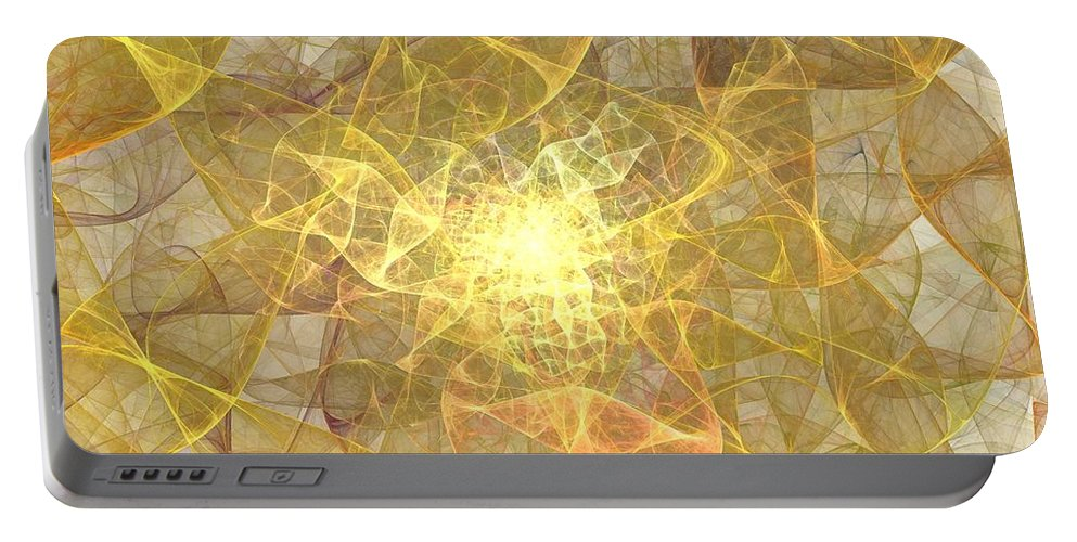 Apophysis Portable Battery Charger featuring the digital art Saffron by Kim Sy Ok
