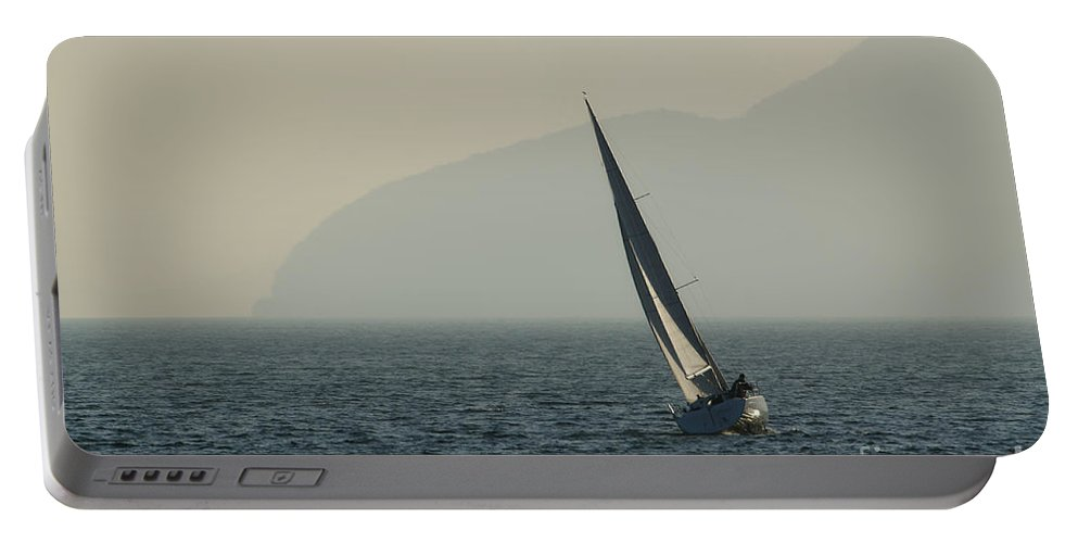 Sailing Boat Portable Battery Charger featuring the photograph Sailing Boat by Mats Silvan