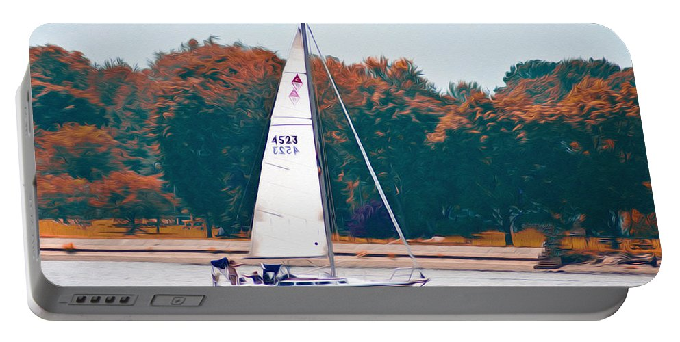 Sailing Day Portable Battery Charger featuring the photograph Sailing Day by Bill Cannon
