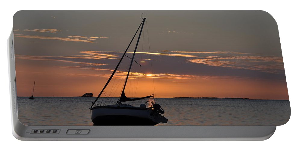 Sailor's Sunset Portable Battery Charger featuring the photograph Sailor's Sunset by Bill Cannon