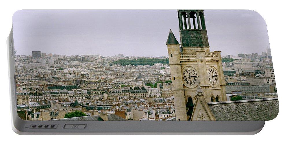 Paris Portable Battery Charger featuring the photograph Saint Etienne Du Mont by Shaun Higson