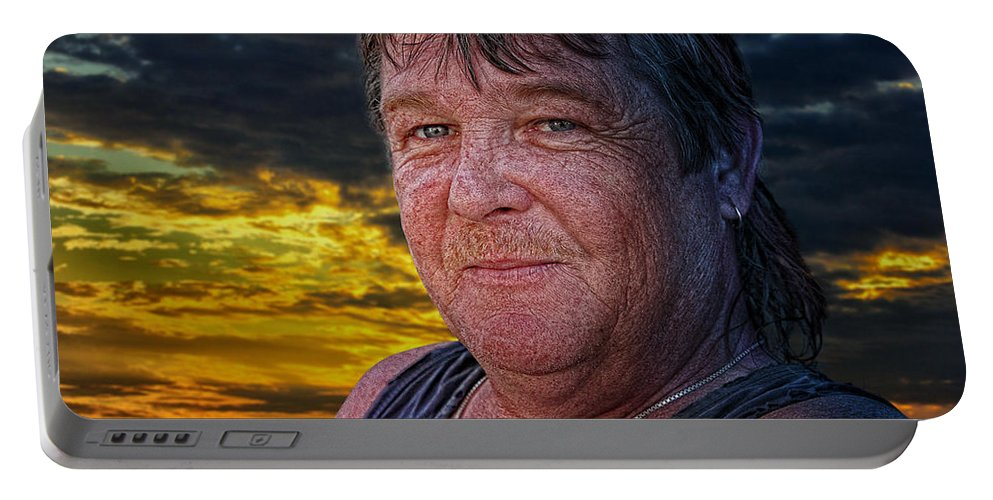 Xdop Portable Battery Charger featuring the photograph Sam by John Herzog