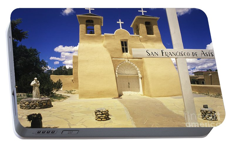San Francisco De Asis Portable Battery Charger featuring the photograph San Francisco De Asis Taos New Mexico by Bob Christopher