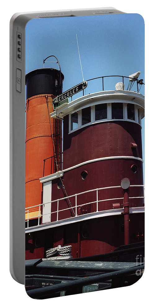 San Francisco Portable Battery Charger featuring the photograph San Francisco Tug Boat by Jim And Emily Bush