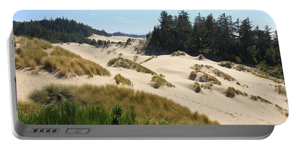 Sand Dunes Portable Battery Charger featuring the photograph Sand Dunes by Athena Mckinzie